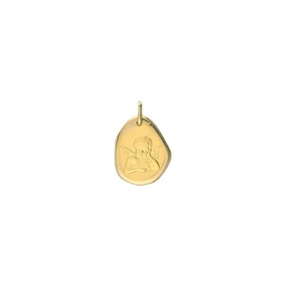 Médaille ange rêveur Or 9 carats jaune - La Petite Française