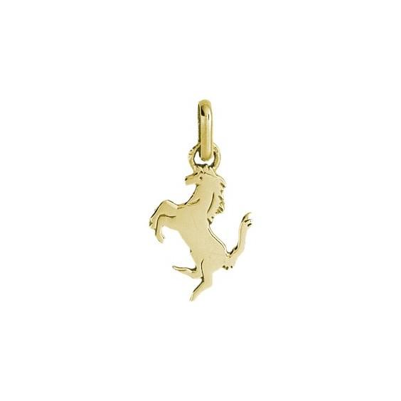 Pendentif cheval cabré Or 9 carats jaune - La Petite Française