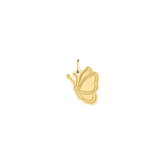 Pendentif papillon Or 9 carats jaune - La Petite Française