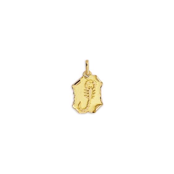 Pendentif scorpion parchemin Or 9 carats jaune - La Petite Française