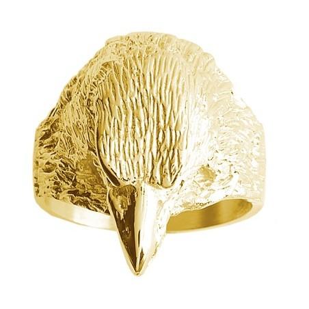 Chevalière aigle Or 9 carats jaune - La Petite Française