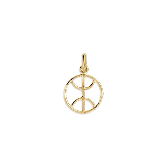 Pendentif Berbère cercle Or 9 carats jaune - 20 MM - La Petite Française