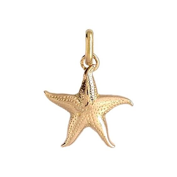 Pendentif étoile de mer Or 9 carats jaune - La Petite Française