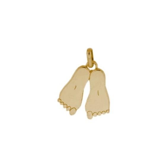 Pendentif pieds Or 9 carats jaune - La Petite Française