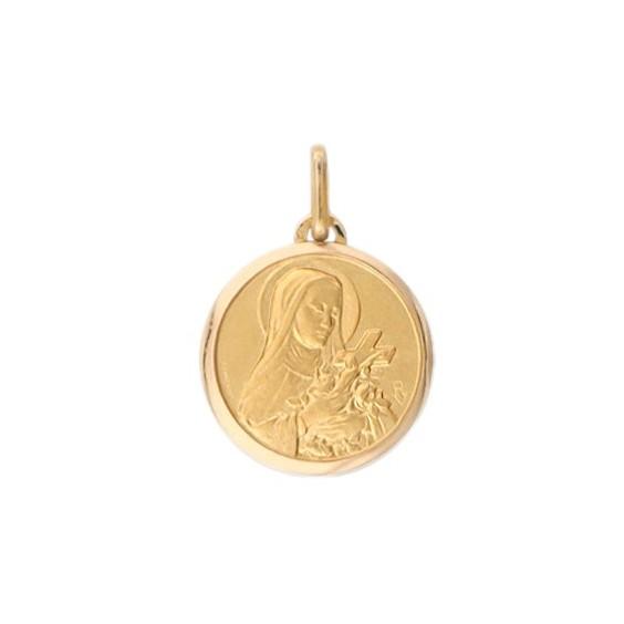 Médaille Sainte Thérèse - 16 mm - Or 9 carats jaune - La Petite Française