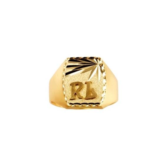 Chevalière Phérius Or 9 carats jaune - La Petite Française