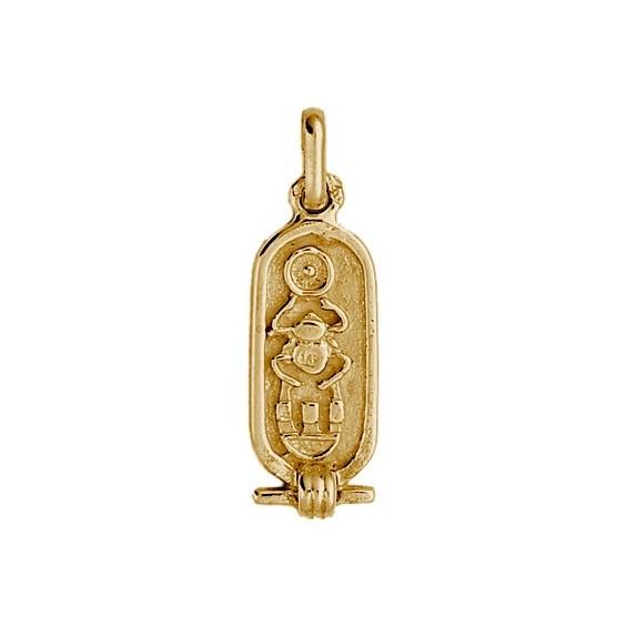 Pendentif cartouche Egyptien Or 9 carats jaune - La Petite Française