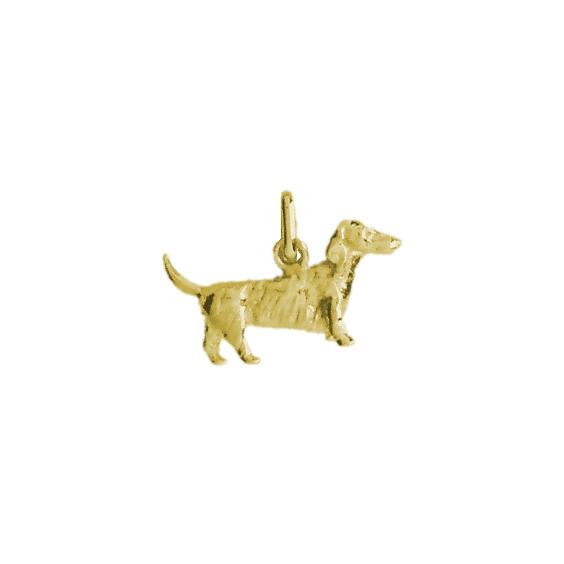 Pendentif chien Teckel Or 9 carats jaune - 13 MM - La Petite Française