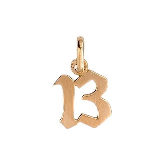 Pendentif nombre 13 Or 9 carats jaune - La Petite Française