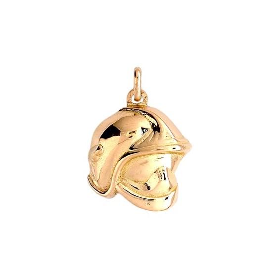 Pendentif casque de pompier Or 9 carats jaune - La Petite Française