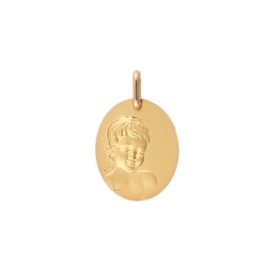Médaille enfant Or 9 carats jaune - La Petite Française
