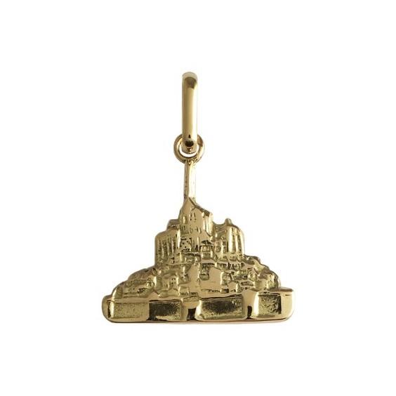 Pendentif Mont Saint-Michel Or 9 carats jaune - La Petite Française