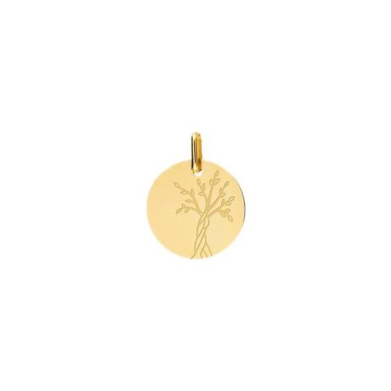 Médaille arbre de vie Or 9 carats jaune - La Petite Française
