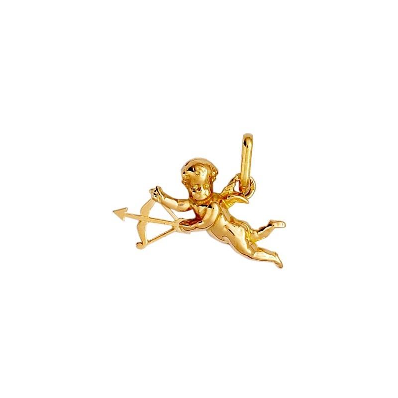 Pendentif ange Cupidon Or 9 carats jaune - La Petite Française