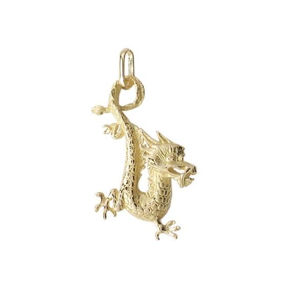 Pendentif dragon Or 9 carats jaune - La Petite Française
