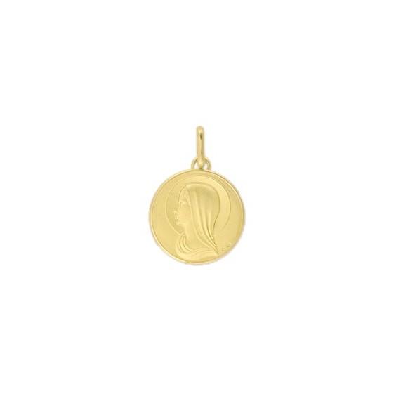 Médaille Sainte-Vierge - 15 mm - Or 9 carats jaune - La Petite Française