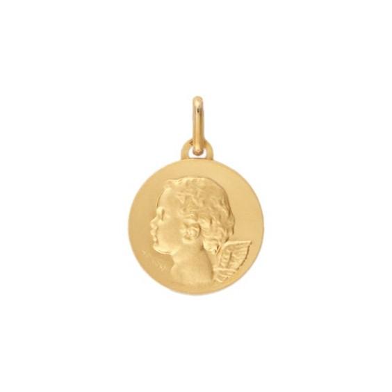 Médaille ange - 15 mm - Or 9 carats  jaune - La Petite Française