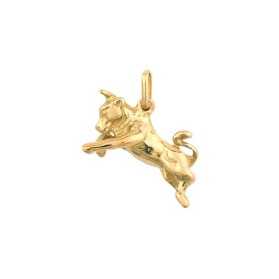 Pendentif taureau Or 9 carats jaune - La Petite Française