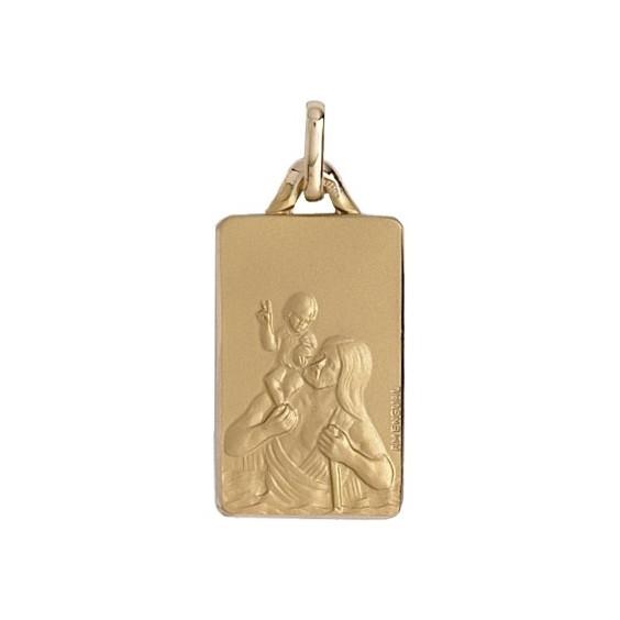 Médaille Saint-Christophe Or 9 carats jaune - La Petite Française