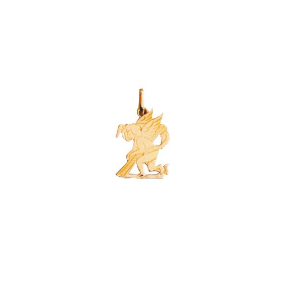 Pendentif ange lettre Z Or 9 carats jaune - La Petite Française