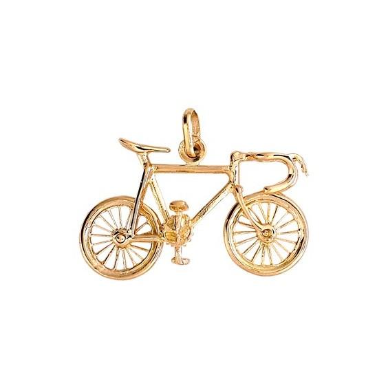 Pendentif vélo de course Or 9 carats jaune - La Petite Française