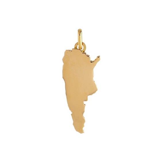 Pendentif carte Argentine Or 9 carats jaune - La Petite Française