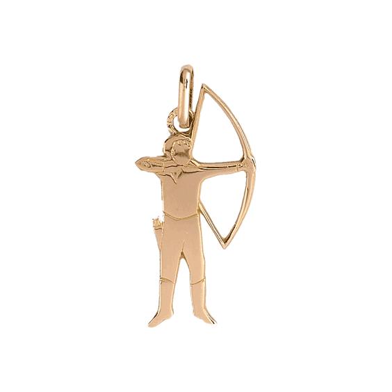 Pendentif archer or 9 carats jaune - La Petite Française