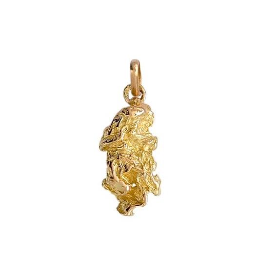 Pendentif pépite Or 9 carats jaune- 23 MM - La Petite Française