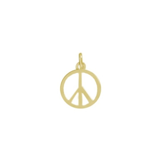 Pendentif Peace and Love Or 9 carats jaune - La Petite Française