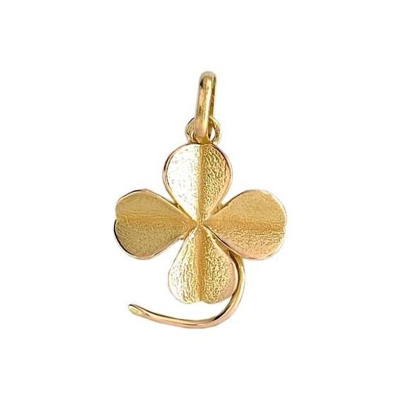 Pendentif trèfle Or 9 carats jaune - La Petite Française