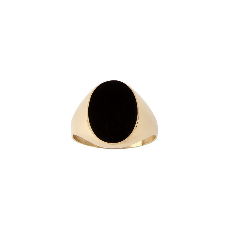 Chevalière onyx Or 9 carats jaune - La Petite Française
