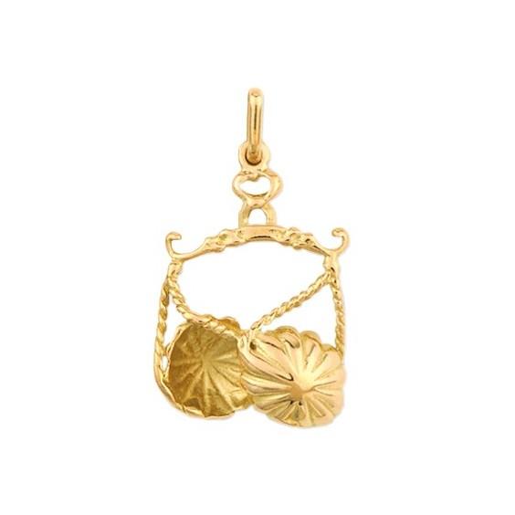 Pendentif balance Or 9 carats jaune - La Petite Française