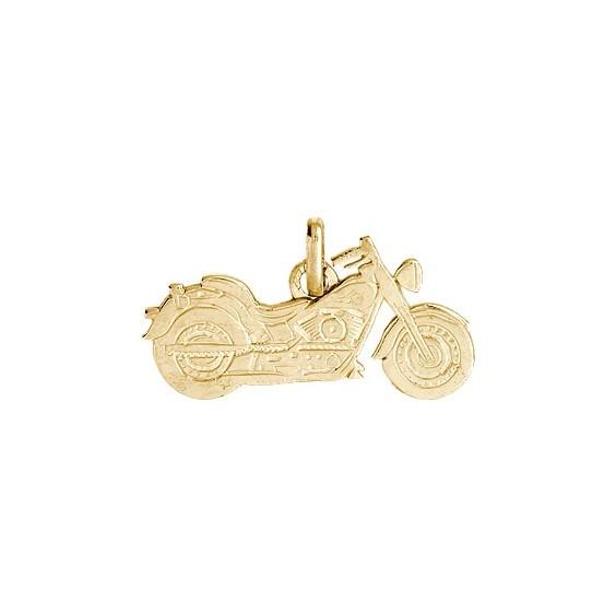 Pendentif moto custom Or 9 carats jaune - La Petite Française