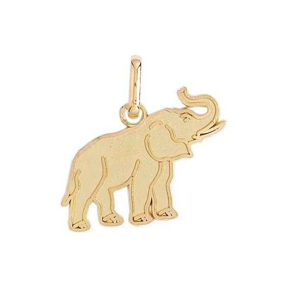 Pendentif éléphant Or 9 carats jaune - 19 x 18 MM - La Petite Française