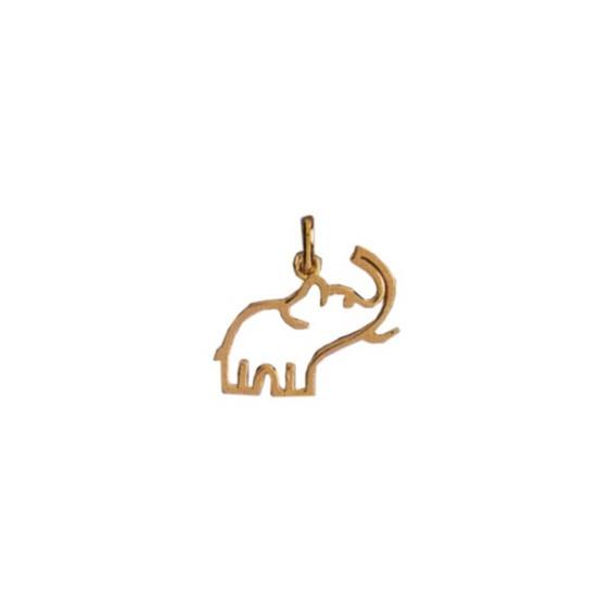 Pendentif éléphant Or 9 carats jaune évidé - La Petite Française