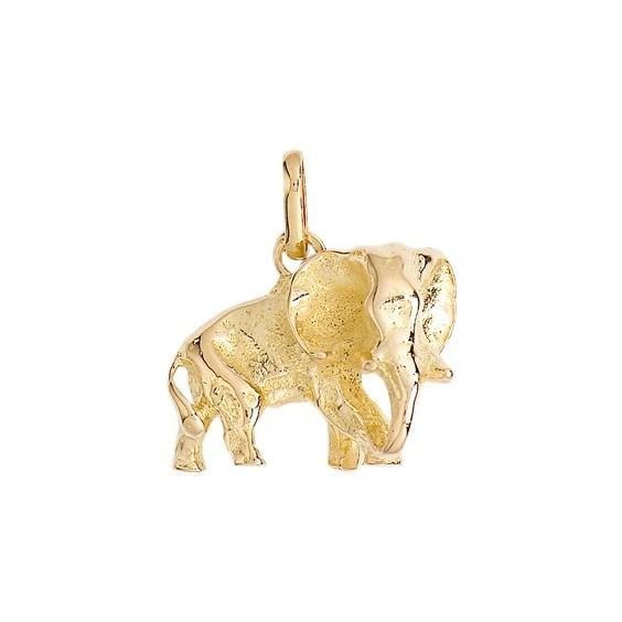 Pendentif éléphant Or 9 carats jaune - 18 x 18 MM - La Petite Française