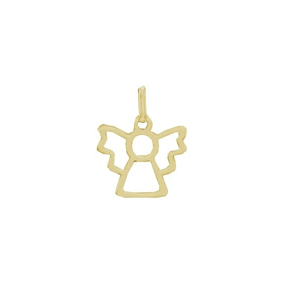 Pendentif ange découpé Or 9 carats  jaune - La Petite Française