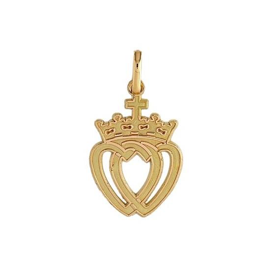 Pendentif coeur Vendéen Or 18 carats jaune - 25 MM - La Petite Française