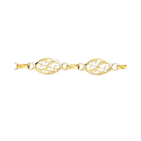Bracelet filigrane Or 18 carats jaune - La Petite Française