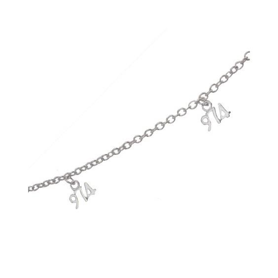 Bracelet charm's 974 argent