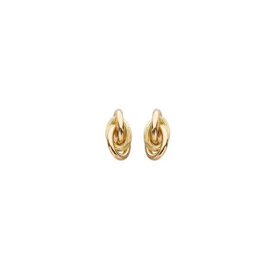 Boucles d'oreilles forçat Or 18 carats - 4 MM - La Petite Française