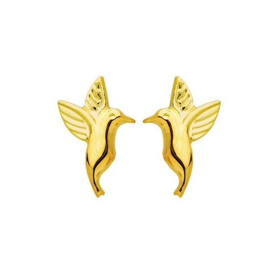 Boucles d'oreilles petit colibri Or 18 carats - La Petite Française