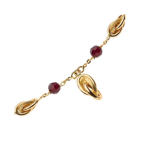 Collier cravate noeuds Antillais et grenats Or 18 carats - La Petite Française