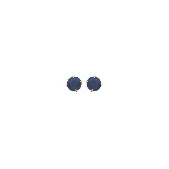 Boucles d'oreilles saphir Or 18 carats jaune - 4 mm - La Petite Française