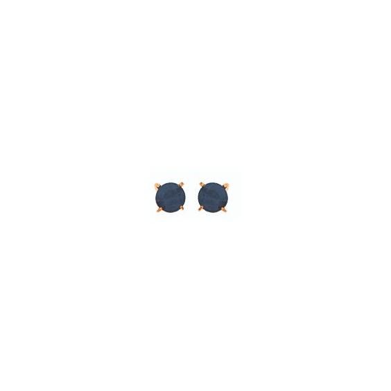 Boucles d'oreilles saphir Or 18 carats jaune  - 3.5 mm - La Petite Française