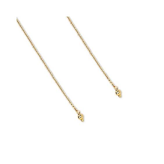Boucles d'oreilles chainette boule Or 18 carats - 3 MM - La Petite Française