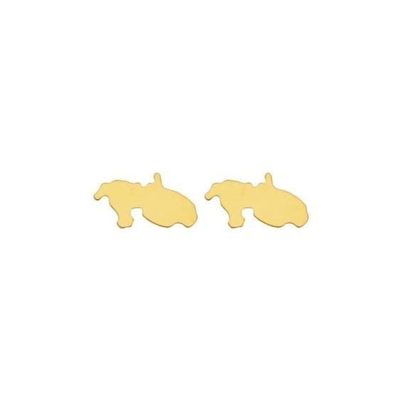 Boucles d'oreilles Martinique Or 18 carats jaune - 6 MM - La Petite Française