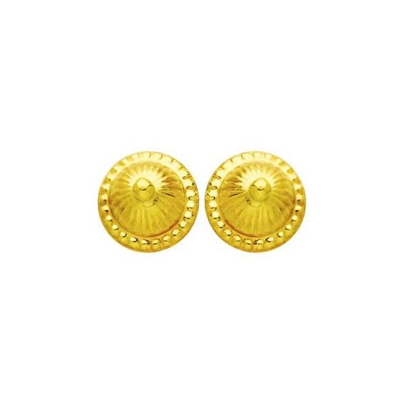 Boucles d'oreilles boule choux Or 18 carats - 8 MM - La Petite Française