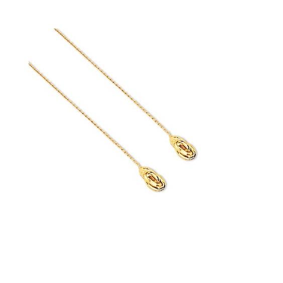 Boucles d'oreilles chainette forçat Or 18 carats - La Petite Française
