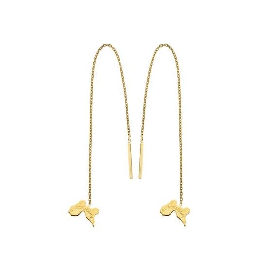 Boucles d'oreilles chainette Guadeloupe Or 18 carats - La Petite Française